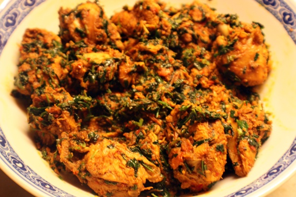 Chicken With Fenugreek Leaves / Methi Chicken / Methi Murgh