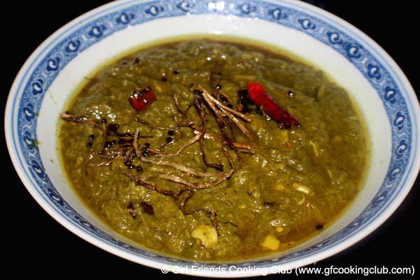 Karkalo Ra Gaba ko Tarkari ~ Nepali Taro Leaves Curry