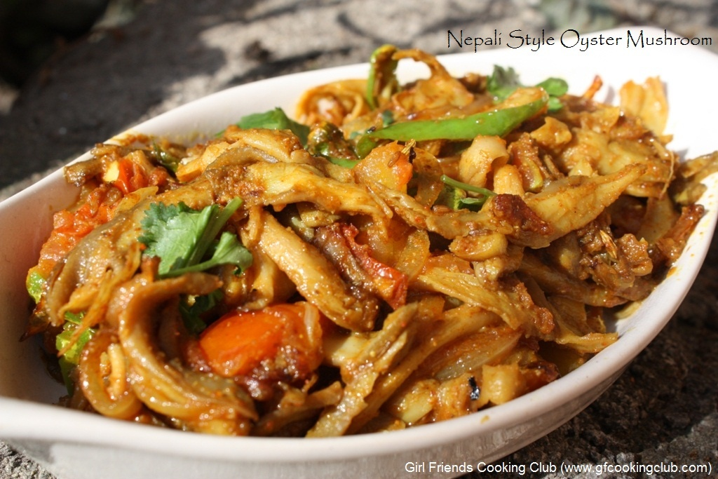 Nepali style mushrooms girl friends cooking club forumfinder Images