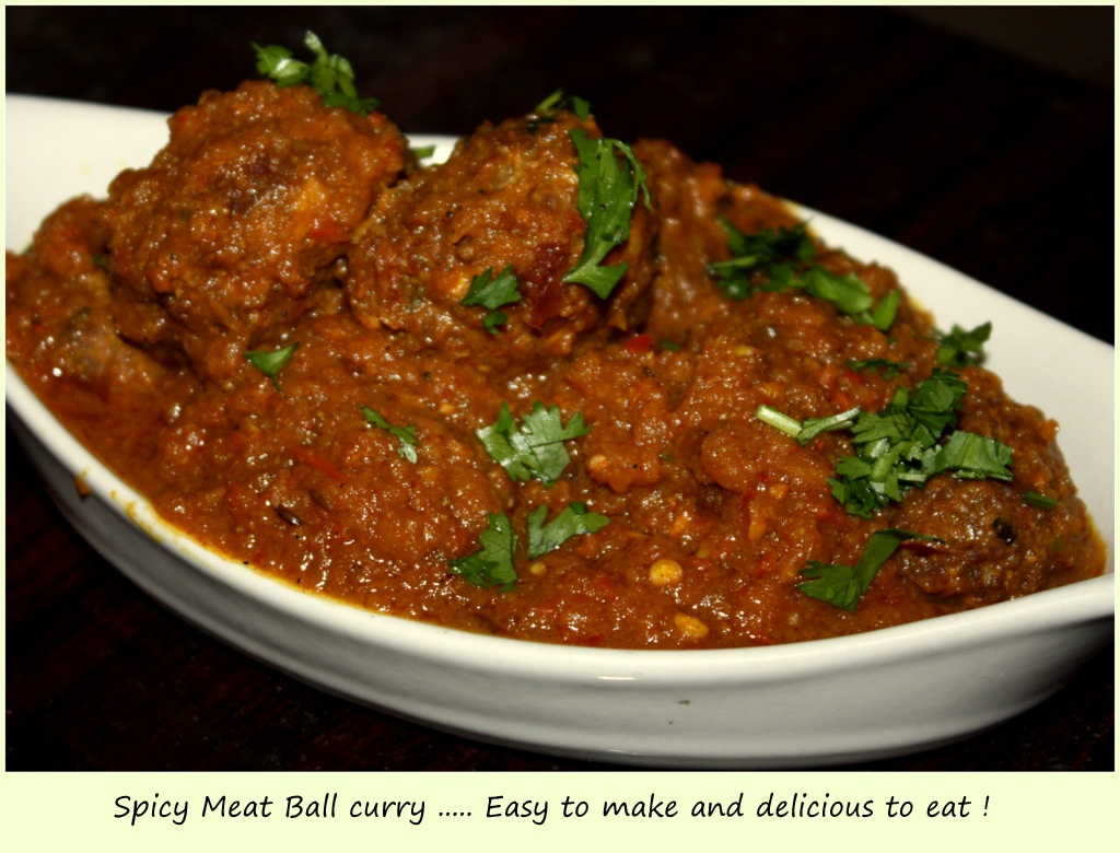 Spicy Meat Ball Curry