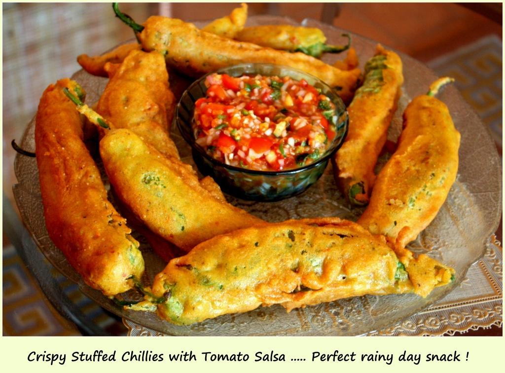Stuffed Chilli Pakoras