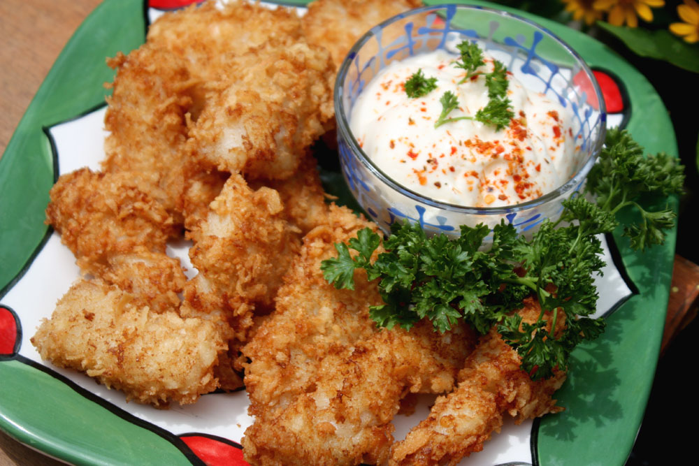 Fried fish fillet with panko girl friends cooking club for Panko fried fish